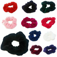 Womens Hair Scrunchies Ladies Girls Elastic Scrunchy Bobbles Velvet Sports Band