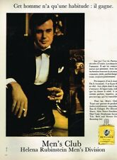 K- Publicité Advertising 1970 Eau de Cologne Men's Club Helena Rubinstein