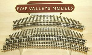 280921/07 Hornby R607 Double Curves 2nd Radius Nickel Silver Rail x 8