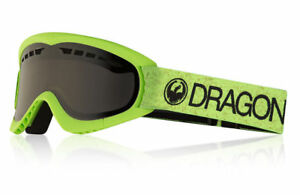 Dragon Alliance DXs Green Snow UV Protected Goggles with Dark Smoke Finish