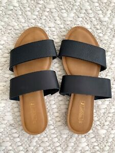 Women's Summer Flats Shoes Slide On Sandals Size 38 Casual