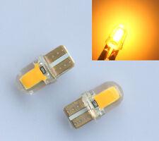 4pcs T10 194 168 W5W COB 8 SMD SILICA Super Bright LED light Bulb Amber/Yellow