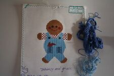 Fred and Ginger Whimsy and Grace Painted Needlepoint Canvas Gingerbread Farmer