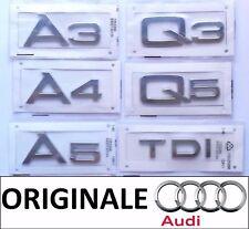 TARGHETTA SCRITTA STEMMA LOGO AUDI A3 A4 A5 A6 Q3 Q5 Q7 TDI