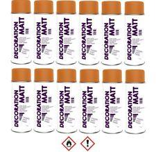 12 Stück 400ml RAL 2004 Lackspray matt Sprühlack Lack Farbe orange 192004