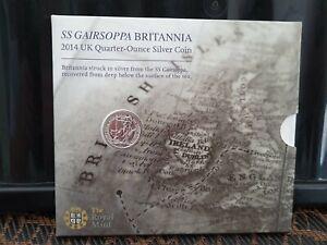 ROYAL  MINT 2014 1/4oz Silver Britannia Coin Pack, SS Gairsoppa,