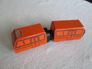 Vintage Brio 3512 Intercity orange metro subway style train.