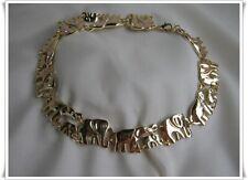 Vintage Goldkette Lupe Elefant Anhänger Halskette Halskette Einzigartig zONwl