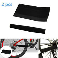 2x Cloth Chain Stay Protector Frame Guard for MTB Mountain Bike Black Huy lskn