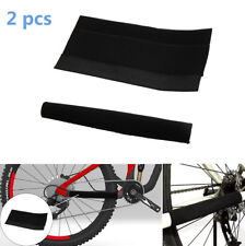 2x Cloth Chain Stay Protector Frame Guard for MTB Mountain Bike Bicycle Black UK