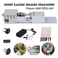 96W 12-24V Mini Metalldrehmaschine Drehmaschine Drehbank Perlen Metalldrehbank