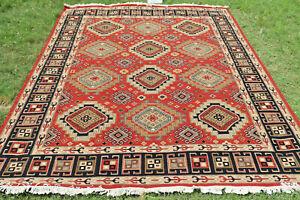 Hand Woven Wool Rug Turkish Kilim Dhurrie Afghan Oriental Area Rug 9 x 12 Soumak