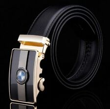 Fashion Mens Desinger Leather Belt Waistband Automatic Buckle for BMW