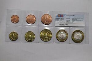 MONGOLIA 2005 FANTASY EURO PATTERN COIN SET B36 #123