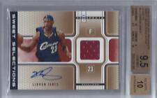 2006-07 Lebron James Fleer Hot Prospects Auto Patch- BGS 9.5 w/10 subs... #19/25