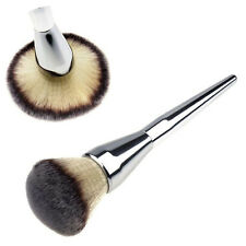 Face Makeup Blush Powder Silver Handle Cosmetic Large Brush Foundation Brushes Q