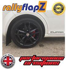 rallyflapZ to fit SEAT LEON CUPRA Mk2 2nd Gen (05-12) Mud Flaps Black (4mm PVC)
