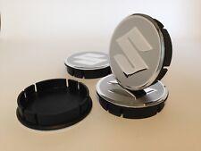 SUZUKI Cache Moyeux Centres de Roue Alu Emblem 4p x 60mm/55mm  *NEUF*