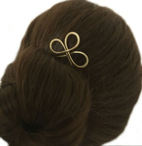 Trinity Hair Fork, Decorative Bun Holder for THICK HAIR, Metal Hair Pin, Gift