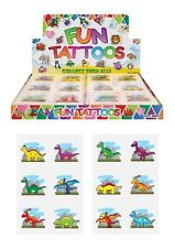 12 DINOSAUR Temporary Tattoos Transfers Childrens Boys Girls Party Bag Fillers