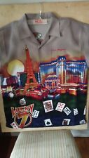 Malibu Dreams Hawaiian Las Vegas Strip Grambling Lucky 7 Showgirls L Shirt