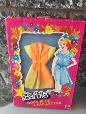 80s# Vintage BARBIE DRESS MODA FIORI E PAILLETTES#NIB