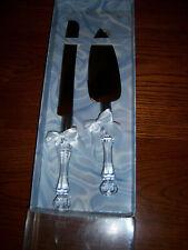 Nib Classic Treasure Master Wedding Engravable Acrylic Knife and Server Set