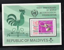 Maldives 1974 Weather Space Souvenier Sheet Sc 471  Mint Never Hinged