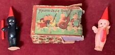 Kewpies Two Very Rare Celluloid Miniature Kewpie Jazz Band Figures With Box