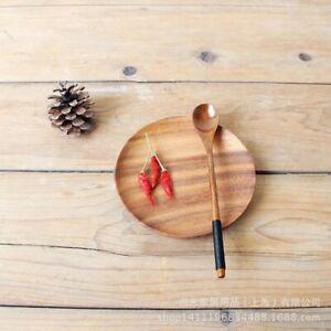 1pcs Long Handle Spoon  Wood  Stick Milk Tea Milk Honey Wooden
