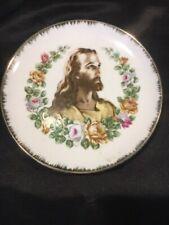 Vintage Christian Plate  - Portrait of Jesus Christ