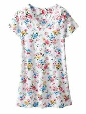 KAREN NEUBURGER Nightgown Med. Large XL Multi-Color Floral S/S Cotton Blend NWT