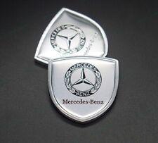 2x Car Side Fender Emblems Auto Rear Sticker Decals Badge Logo For Mercedes-Benz