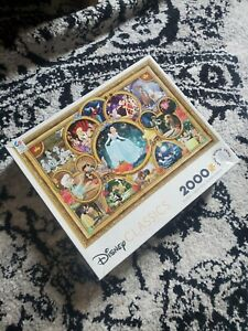 Disney Classics Collage 2000 Piece Jigsaw Puzzle by Ceaco Plus Poster All Pieces