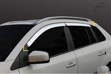Chrome Wind Deflector Sun Visor Set 4pc Set for 2008 ~ 2016 Renault Koleos
