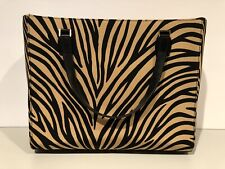 Kate Spade Zebra Bag Animal Tote Handbag Brown and Black Purse RARE