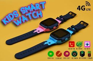 New 4G Kids Smart Watch, Nano-SIM Card GPS HD Video Call Waterproof