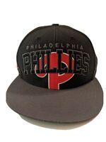 Philadelphia Phillies Baseball Hat Cap Black/Gray/Red Genuine MLB New