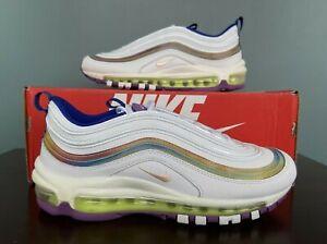 "Nike Air Max 97 SE ""Easter"" White/Iridescent Stripes Women's Size 8 CW2456-100"