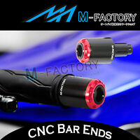 CNC RUSH26 Motorcycle Bar Ends Red For Suzuki GSX-R 1100 89-1998 89 90 91 92