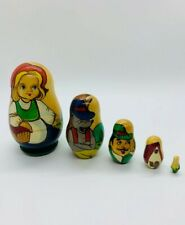 Matryoshka Nesting Doll Little Red Riding Hood 5 pieces Hand Painted