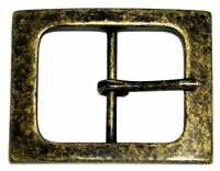 "Square Single Prong Center Bar Replacement Belt Buckle 1-1/2"" (38mm) wide"
