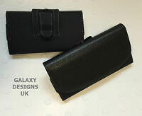 Quality Leather Belt Clip Pouch Holster Black Case Cover Samsung Galaxy Models
