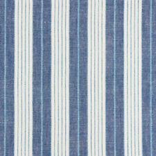 Schumacher Blue Versatile Multi Stripe Fabric- Horst Stripe Delft 2.65 yd 72600