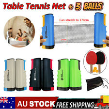 Portable Table Tennis Net +3Balls Rack Replacement Retractable Ping Pong Sports