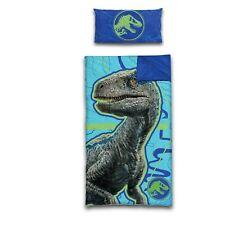 Jurassic World 2 Piece Slumber Set: Slumber Bag with Full Zipper & Bonus Pillow