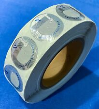 Approx 500 Nedap 1.25� Rf Chrome Color Security Labels Stickers On Roll