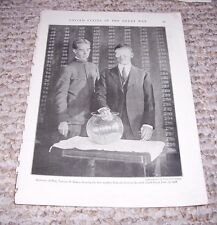 1919 SECRETARY OF WAR NEWTON BAKER DRAWING 1ST NUMBER DRAFT Print Photograph WWI
