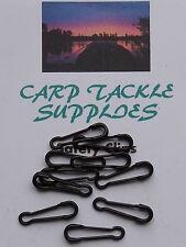 MATT BLACK QUICK LINK CLIPS - 25 Per Pack BARBEL FISHING