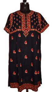 VINTAGE INDIAN VERY FAMOUS DESIGNER RITU KUMAR HAND EMBROIDERY DRESS TOP KURTA